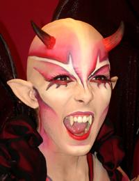 Maquillajes Mindol Fantasia Y Body Painting - Como-maquillar-a-una-diabla
